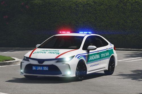 Toyota Corolla 2020 Jandarma Otoyol Trafik Skin