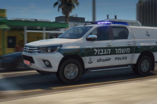 Toyota Hilux 2019 - israeli border police [Add -On | Template | ELS ]