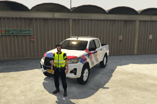 Toyota Hilux Police [Dutch] [Skin] [OOV]