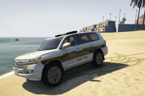 Toyota Land Cruiser 2018 - טויוטה לנד 2018 ניידת משטרת ישראל | Paintjob