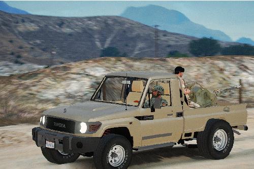 Toyota Land Cruiser pickup with ZU 23 [Add-On]