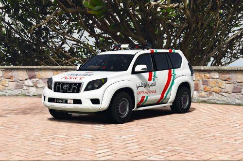 Toyota LandCruiser Prado Moroccan Police [الأمن الوطني] Livery