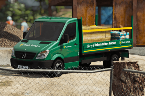 Travis Perkins Mercedes Sprinter Dropsides Flatbed [Replace | Livery]