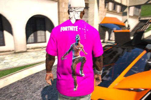 Travis Scott Astronomical Fortnite + Cactus Jack T-Shirt