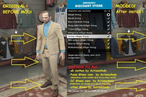 Cheap Suits Pack for Trevor