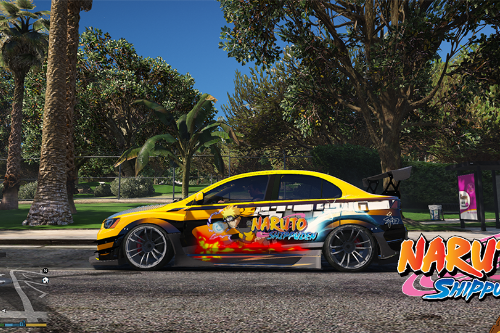 Tuner liveries for Mitsubishi Evolution X 1.01/Naruto Paint Job