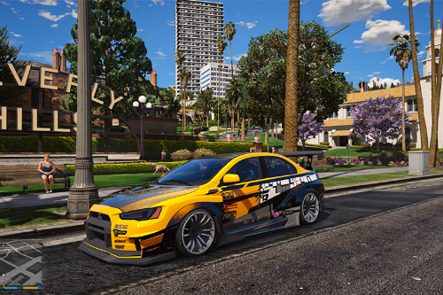 Tuner liveries for Mitsubishi Evolution X.