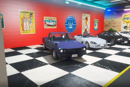 Tuners DLC stock cars spawned into the Tuner Garage [Menyoo]