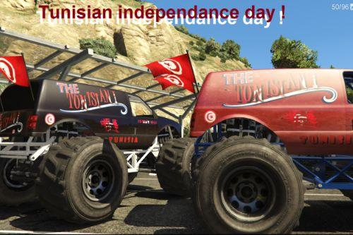 Tunisian Independance Day Monster skin(Liberator)