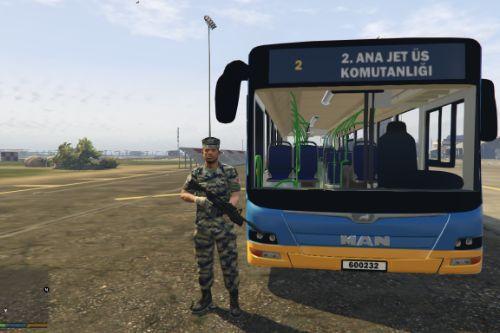 Türk Askeri Servis Otobüsü - Turkish Military Service Bus