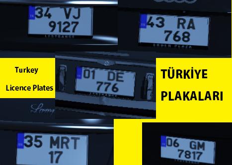 Turkey Licence Plates l Türkiye Plakaları