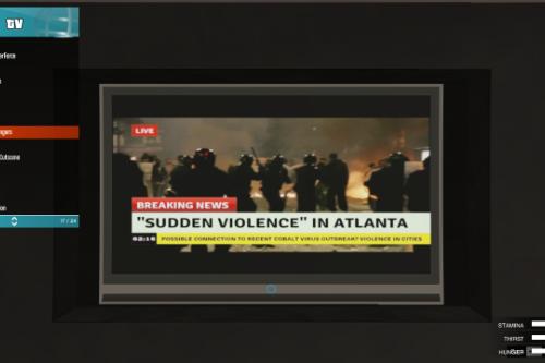 TV Channel News Zombie Outbreak