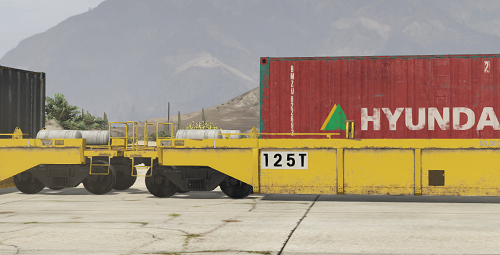 Twin Container single stack with liveries