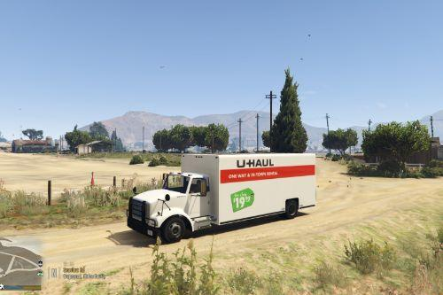 U-Haul Livery For Vapid Texture-Mapped