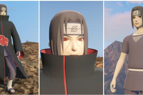 Uchiha Itachi from Naruto w/ cloth Physics [Add-On Ped]