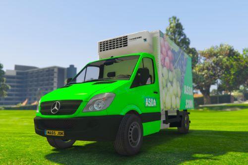 UK British Asda Delivery Van (Mercedes Sprinter)