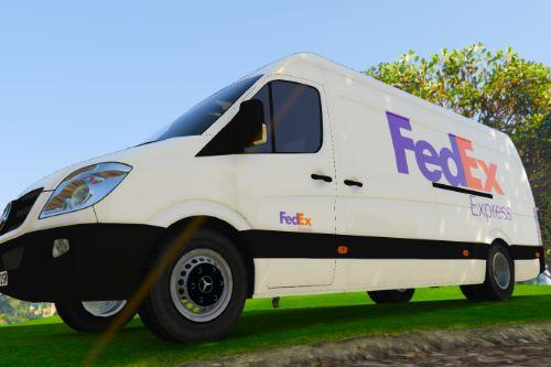 UK British FedEx Delivery Van Skin