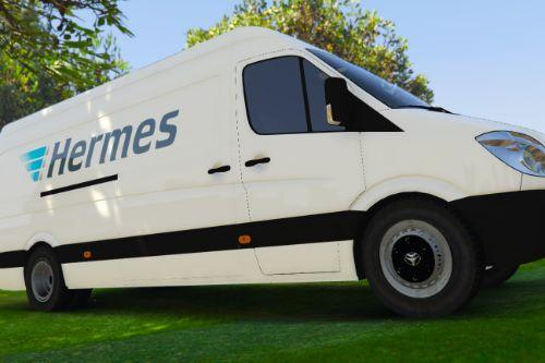UK British Hermes Delivery Van Skin