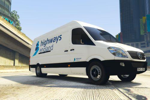 UK British Highways England Van