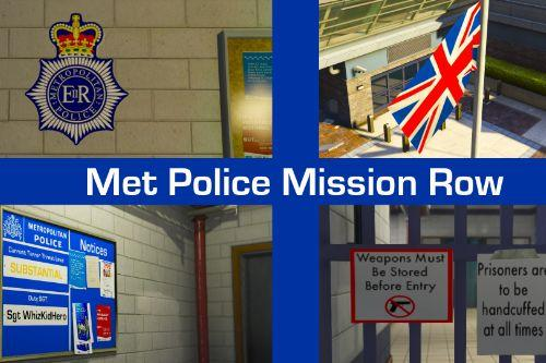 UK British Metropolitan (Met) Police Mission Row Police Station