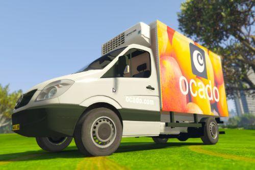 UK British Ocado Delivery Van (Mercedes Sprinter)