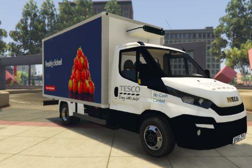 uk british tesco groceries delivery van iveco