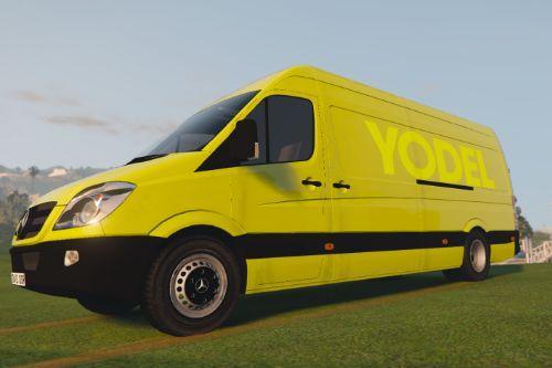 UK British Yodel Delivery Van Skin