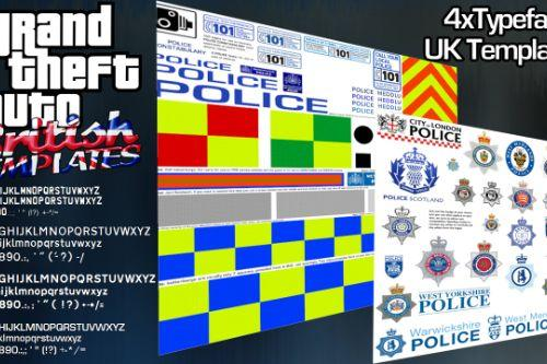 UK Police/Emergency Service Texture Templates