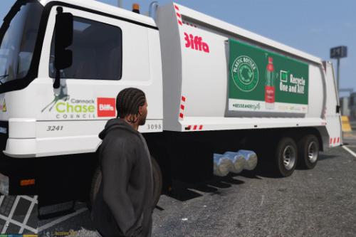 UK style Biffa waste truck