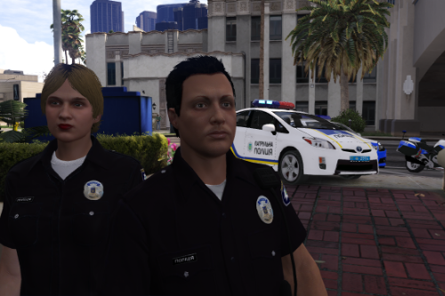 Поліція України / Ukrainian Police uniforms for MP LSPDFR 0.4 for men and women