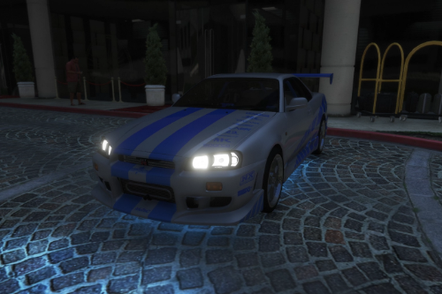 Ultra Realistic Handling for Nissan Skyline GT-R R34 1999 (Fast & Furious)