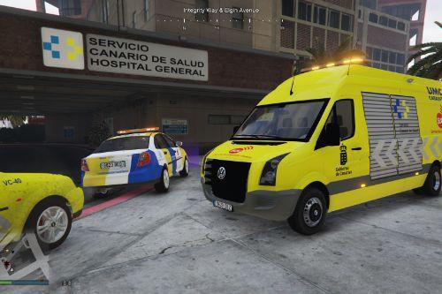🇮🇨 UMCAT Catastrofes Servicio de Urgencias Canario SUC 2006 VW Crafter I [Typ 2E] L4H3