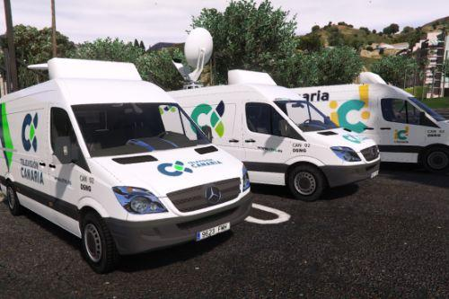 Unidad Movil Television Canaria 2006 Mercedes Sprinter [Replace/Extras]