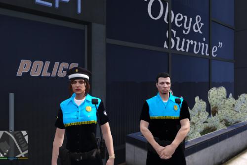 Uniformidad Policia Local Canaria para LSPDFR 0.4 y FiveM de hombre y mujer Spanish Cop/Police