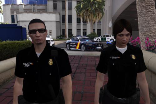 Uniformidad Policia Nacional CNP Seguridad Ciudadana para LSPDFR 0.4 y FiveM de hombre y mujer Spanish Cop/Police