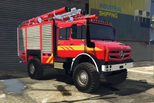 Unimog U5023 Brandweer livery - Feuerwehr Saarbrücken [Paintjob]