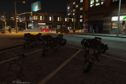 Unmarked danish police bike
