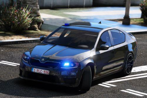 Unmarked (SRT Antwerpen) Skoda Octavia VRS | Toggled beacon, rotating LEDs