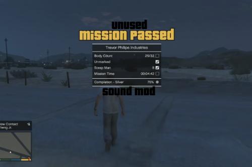 Unused Mission Complete Sound Mod