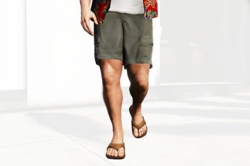 Updated Shorts + Flip Flops for Michael