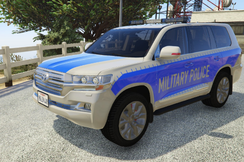 US Army Military Police Land Cruiser