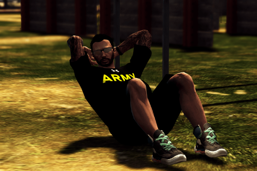 US Army PT Shirts [EUP ADDON]