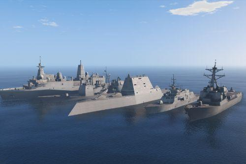 US Navy Fleet Surface Vessels [Add-On | Working weapons]