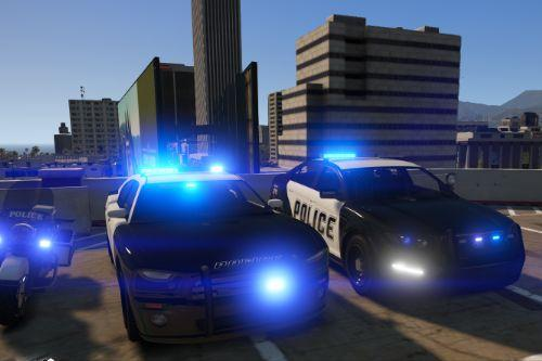 Vanilla Police Pack Blue Lights!!!