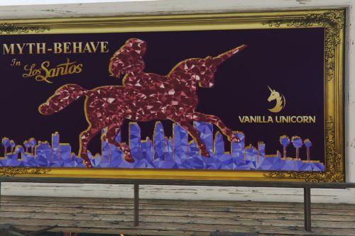 Vanilla Unicorn's Rooftop Billboard