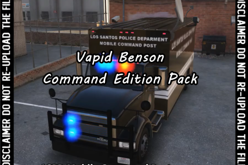 Vapid Benson - Command Edition Pack [Add-On - Sound]