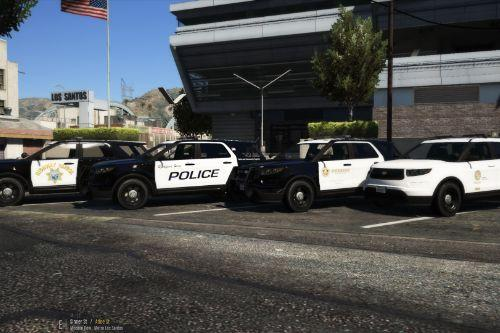 Vapid Scout Police Pack! (SAHP, LSPD K9, Los Santos County Sheriff, Rockford Hills Police) [ADD-ON]