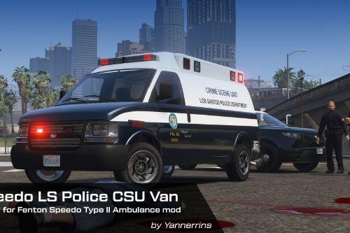 Vapid Speedo LSPD Crime Scene Unit Livery