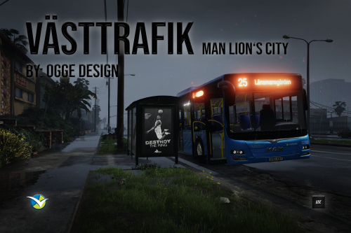 Swedish Västtrafik Buss (MAN Lion's City)