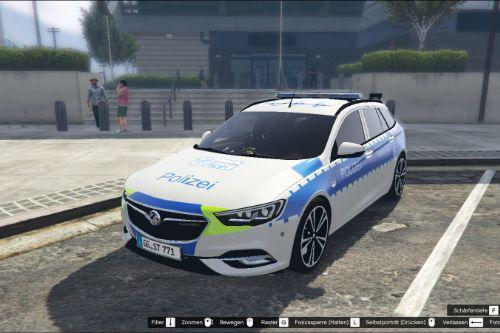 Vauxhall Insignia Police / Emergency Car (ELS) livery-pack with german license plate  / German police and emergency livery-pack